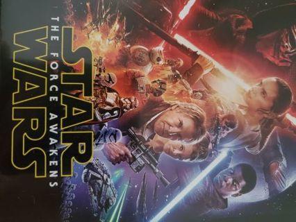Star Wars The Force Awakens Blu Ray DVD Digital HD Code, UV, itunes