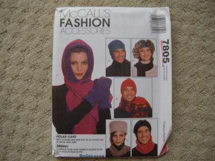 Free: Sewing Pattern : McCall\'s 7805 Scarf / Neck Cowl / Mittens ...