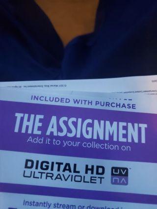 The assignment hdx Vudu Only