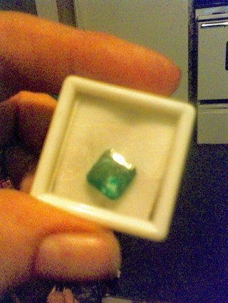 Natural Certified Colombian Emerald! Gift W/Gin