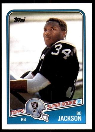 1988 Topps Bo Jackson Rookie Card