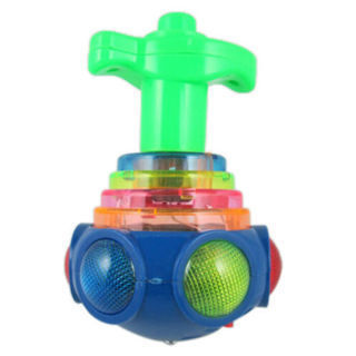 1X(Hot Colorful Light & Music Gyro Peg-Top Spinning Tops Kids Children Toy T7O9)
