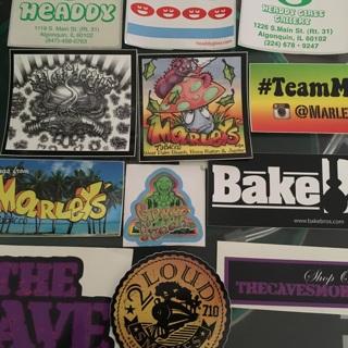 12 Smoke Shop Stickers- 420 Glass