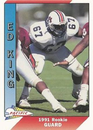 1991 Pacific Ed King Rookie Football Card