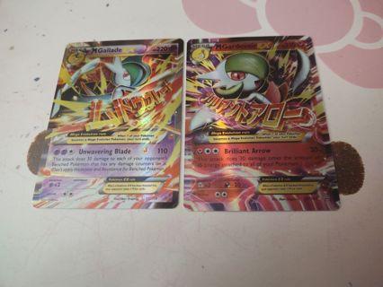 Mega holographic pokemon cards