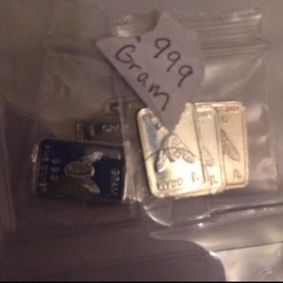 4 grams .999 pure silver