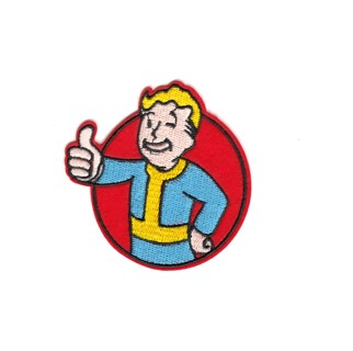Vault Boy Fallout Video Game Embroidered Iron-On Patch