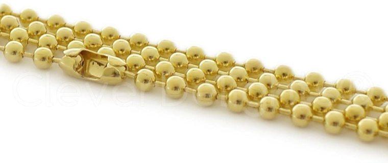 1pc 3.2mm 24 inch GP Ball Chain Necklace Lot 1 (PLEASE READ DESCRIPTION)