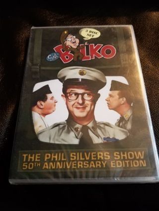 DVD TV Set .... Sgt. Bilko The Phil Silvers Show 50th Anniversary 3 Disc set sealed