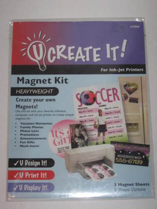free new u create it heavyweight magnet kit for ink jet printers