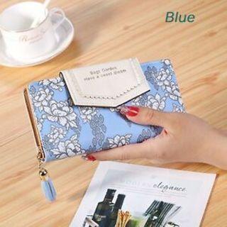 Holder Women Clutch Flower Leather Card Zipper Wallet Handbag Bags Purse