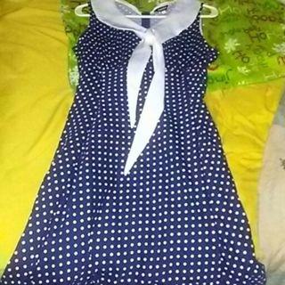 1950s polka dot dress