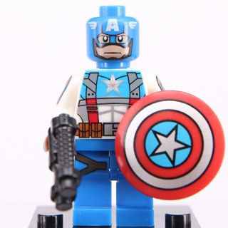 New Captain DC Super Heroes Minifigure Building Toys Custom Lego