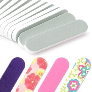 20pcs Sanding Nail File Buffer Block Pink Flower Durable Buffing Gel Polish Smooth Pedicure Manicu