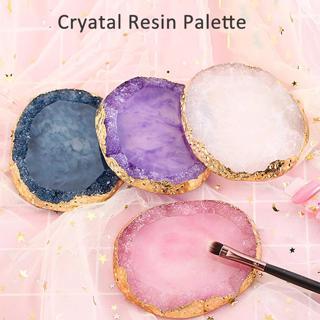 1Pc Crystal Stone Pattern Nail Art Polish Gel Color Display Palette Practice Board Natural Resin V