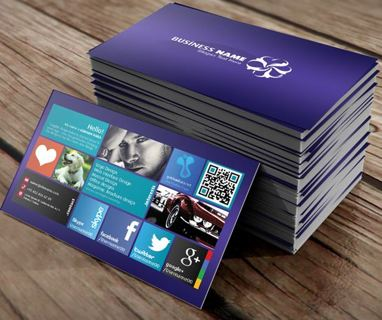 Free Windows 8 Personal Business Card Visit Photo Psd Template