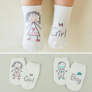 Cute Spring Autumn Baby Socks Newborn Cotton Baby Boys Girls Cute Toddler Asymmetry Anti-slip Sock
