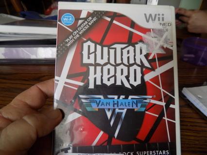 Wii Guitar Hero Van Halen game