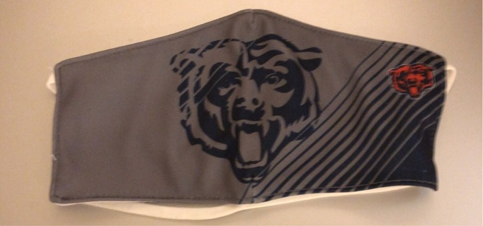 Brand New: National Football League Licensed, Chicago Bears Face Mask with Logo