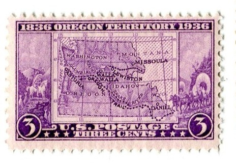 FREE US Mint Stamp 3c 1836 Oregon Territory 1936 MNH