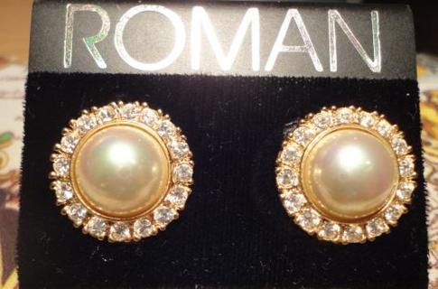 free brand new roman costume jewelry clip on earrings