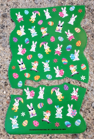 EASTER STICKERS 2 SHEETS LOT 1