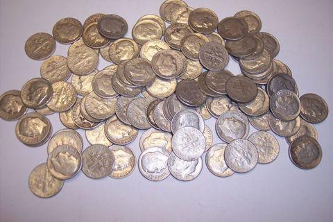 Lot of 3 Random Date Silver Roosevelt Dimes