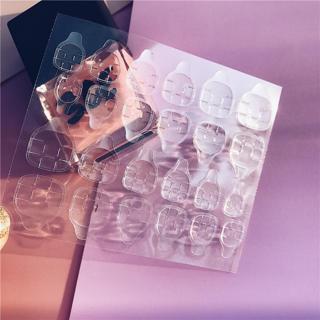 24pcs/20pcs/12pcs Transparent Waterproof Magic Paste Bride Fake Nail Tool Adhesive Tape Wear Nail