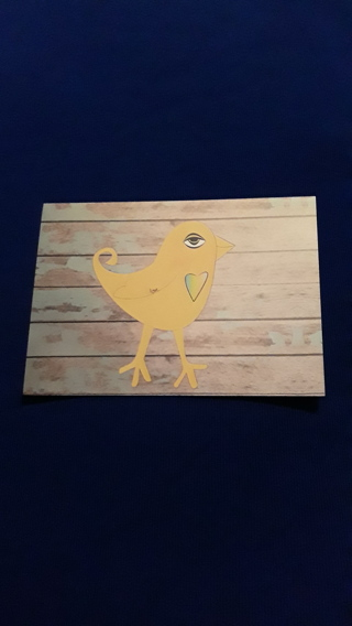 Notecard - Yellow Bird