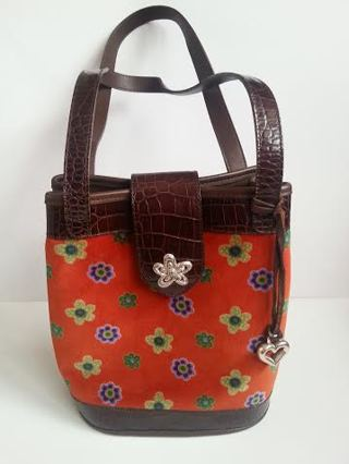 Free Limited Edition Brighton Handbag From The Collectibles 2000 W Original Box Felt Bag Never Used