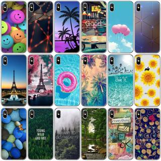 For Iphone 7 8 PLUS X 6 6S Summer Cool Pattern Soft TPU Back Phone Case Cover