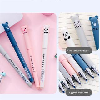 4 pcs/lot Panda Pink Mouse Erasable Blue Ink Gel Pen School Office Supply Gift Stationery Kawaii