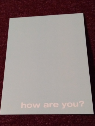 Notecards - how are you?