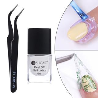 Peel Off Liquid Tape Form Nail Polish Protection Finger Skin Cream Whit Latex Protected Glue Easy