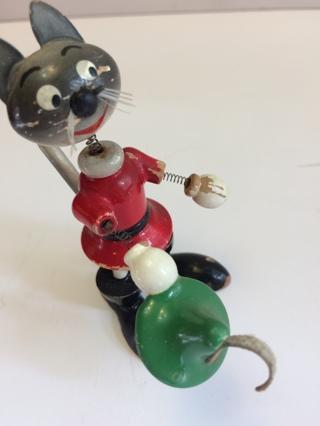 Antique / Cat Wooden Toy (Looks Like Robin Hood)