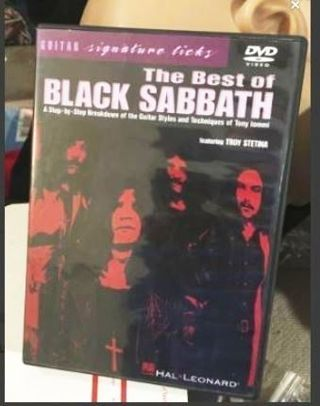 1 Learn to Play Guitar BLACK SABBATH Band Video DVD FREE SHIPPING