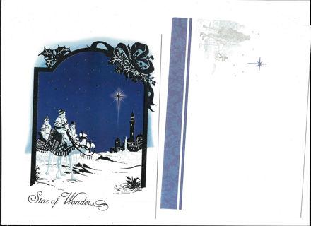 Christmas Card Unused With Matching Envelope Three Wisemen