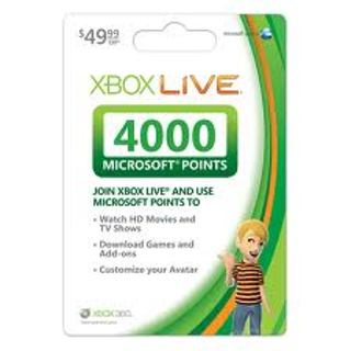 4000 microsoft points 50 xbox live gift card for online xbox 360 code low