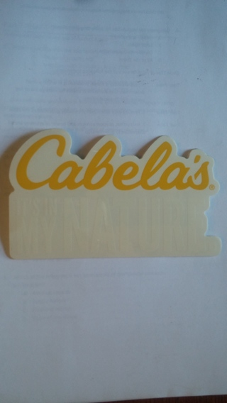 049d7ed429 Free  Cabelas sticker - Other - Listia.com Auctions for Free Stuff