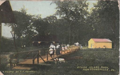 Vintage Used Postcard: 1909 Starr Island Park, Montoursville, PA