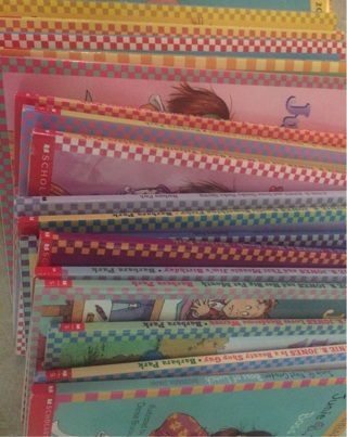 JUNIE B. JONES PAPER BACKPACK BOOK LOT