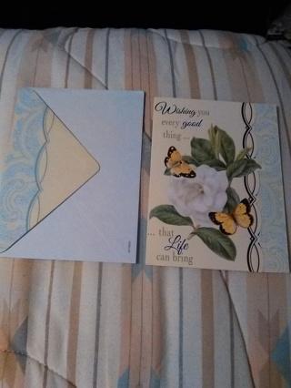 HAPPY BIRTHDAY CARD WITH ENVELOPE -- NEW!!