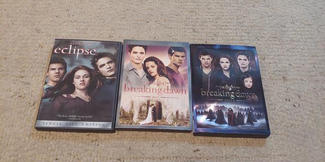 Twilight Movie Lot of Three (3) Movies