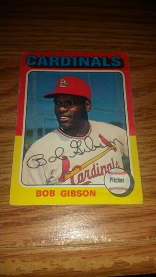 1975 Topps Baseball Bob Gibson #150 St Louis Cardinals,VG condition,free shipping!
