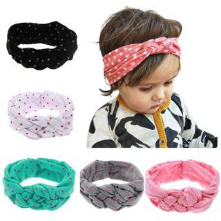 LALeben Knitted Cotton Elastic Headbands For Girls Rabbit Ears Baby Girls Hairband Toddler Turban
