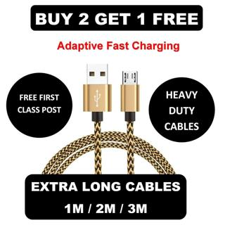 PREMIUM 1M 2M 3M MICRO USB FAST DATA CHARGER CABLE LEAD FOR SAMSUNG SONY LG