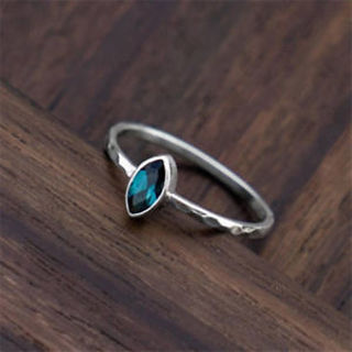 Natural Sapphire Trendy Women 925 Silver Ring Jewelry Wedding Engagement Sz 6-10