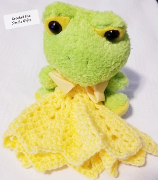 "Baby Security Cuddle Blankie 7"" LITTLE FROGGIE 9"" CROCKET BLANKET"