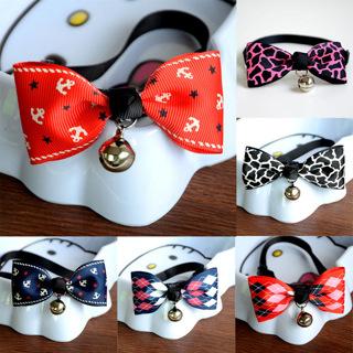 Adjustable Dog Collar Cat Pet Cute Bow Tie With Bell Puppy Kitten Necktie Collar