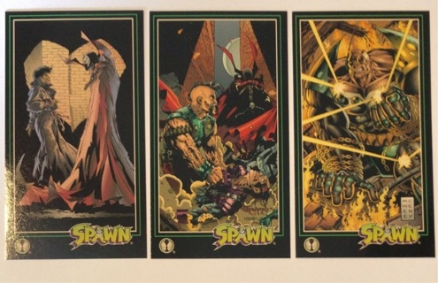3x Spawn Trading Cards 1995 Todd McFarlane